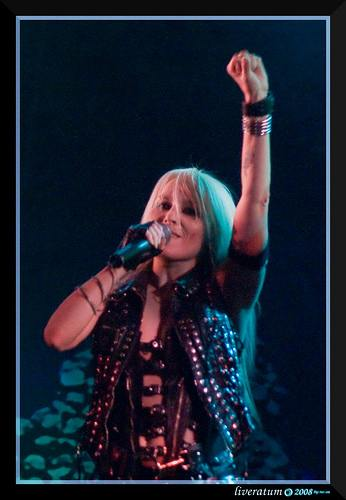 Doro Pesch Performing in 2008. Photo credit: liveratum on Flickr.