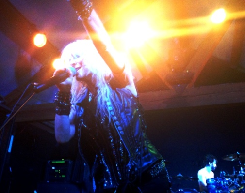 Doro Pesch onstage. Photo by Alec Damiano.