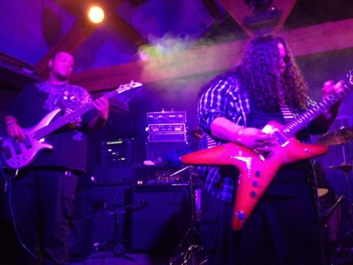 Members from Epyon played an instrumental classic metal set. Photo by Alec Damiano.