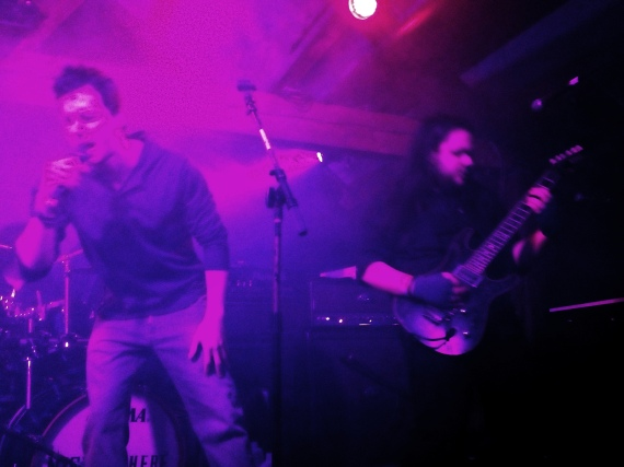 NightSphere singer CJ McConnell and guitarist Elsthon Gomez, opening for Doro Pesch. Photo by Alec Damiano.