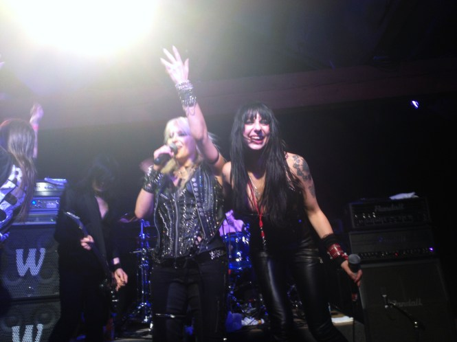 "Sister Sin joined DORO onstage for a memorable rendition of ""All We Are"". Photo by Alec Damiano."