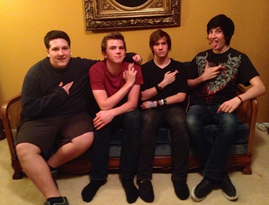 Hands of a Traitor. From left to right: Jacob Ricker (vocals), Kieran Lynch (guitar), Emile Trudeau (bass), Darin Senyk (guitar). Photo by Alec Damiano.
