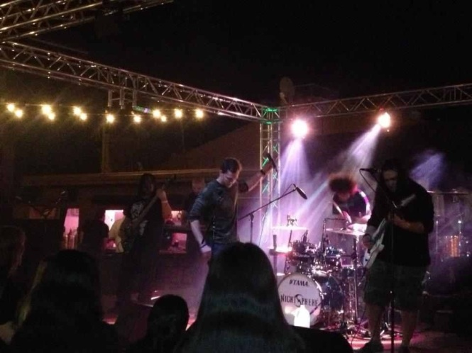 NigthSphere performing in February 2013. Photo courtesy NightSphere's official Facebook.