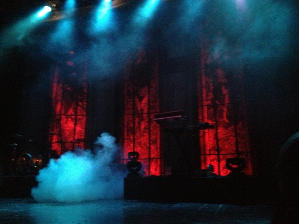 "A ""secular haze"" fills the room before Ghost goes on. Photo by Alec Damiano."